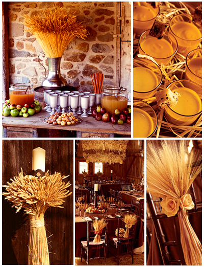Wedding Planner on Inspiration Board  Wheat Theme   Ottawa Wedding Planner